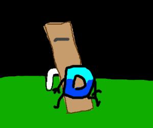Drawception logo wants to teeter totter