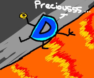 Drawception logo falling in lava