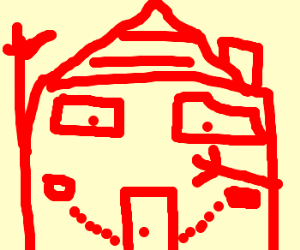 Happy house invites you inside itself