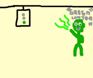 green lantern traffic light