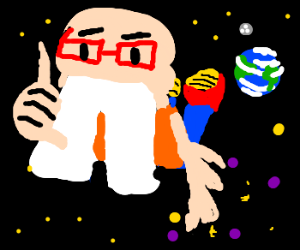 Buck toothed eco nerd in space