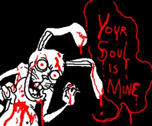 Horribly evil rabbit will devour your soul