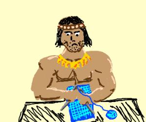 Conan likes to knit