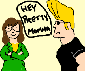Johnny Bravo thinks Daria is hot