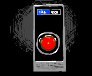 HAL 9000 looks on intently