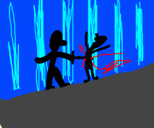 Someone just killed a guy! (silhouettes)