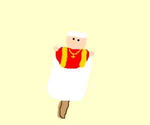 Pope flavored popsicles!!