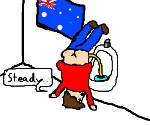 Australians do it upside-down