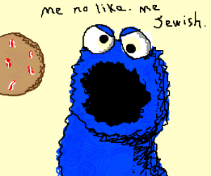 Cookie monster doesn't like bacon cookies