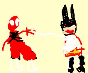 spiderman fights batman