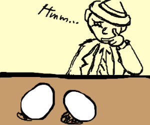 The mystery of the 2 eggs left on the table