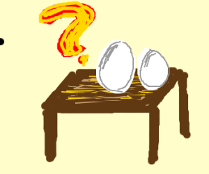 The Mystery of the Eggs on a Table