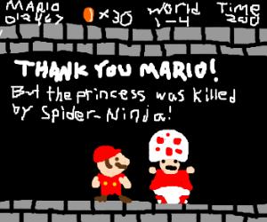 Sorry Mario, Spider-Ninja offed your princess.