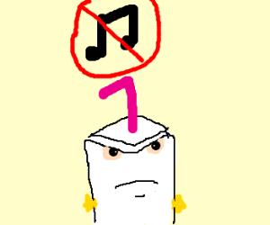 music is verboten