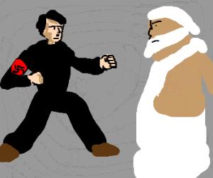 hitler fights god