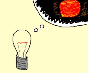 aspiring lightbulb wants to be a star