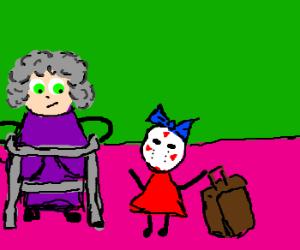 Granny sambchop adopts little girl Corvax