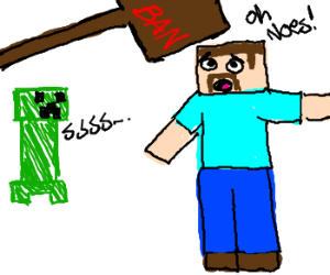 banned form minecraft (for the lulz)