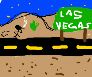 Walking to Las Vegas all high and loathing