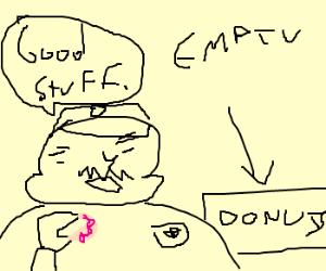 Fat Cop Eats All The Donuts