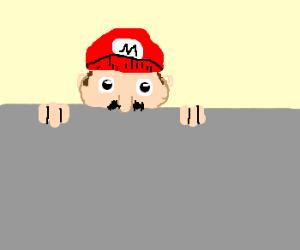 peeping Mario