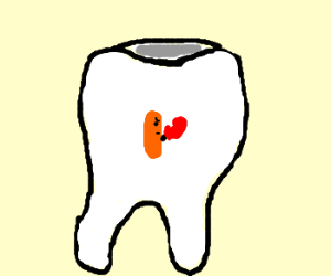 BabyCarrot Tries To Box His Way Out Of A Tooth