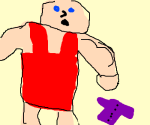 Body builder finds small purple coat