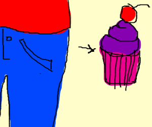 Your hips want that tasty cupcake!