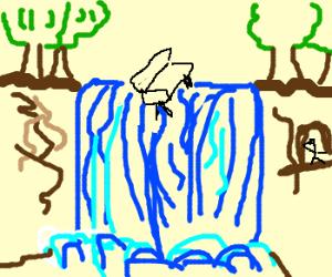 Watching Furniture Fall off Waterfall