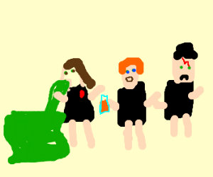 ron gives juice to drunk hermione unhappy hary