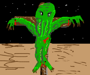 Cthulhu dying for our sins.
