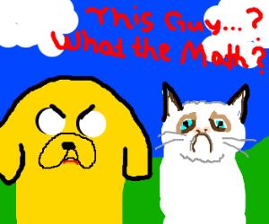 Grumpy Cat in Adventure Time