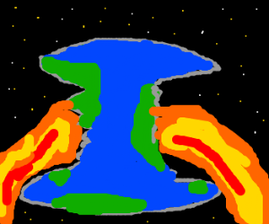 Fire coming out of earths core