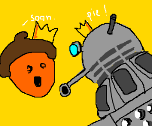 Nut king makes robot overlords wait for pie