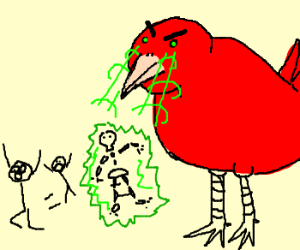 A Big Red Angry Bird!