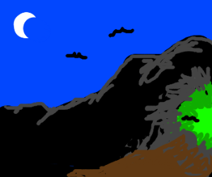 Green light cave
