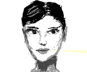 Audrey Hepburn looking a bit surprised
