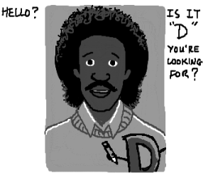 Lionel Richie posing it up with the D!
