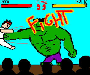 Ryu VS The Incredible Hulk