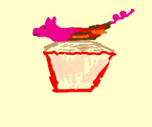 Bacon cupcake!