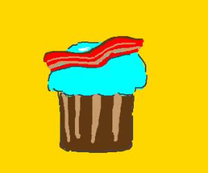 Bacon cupcake