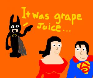 Girl dumps alcoholic Batman for Superman