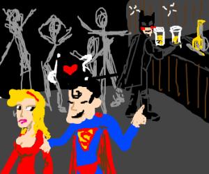 Superman is wingman for shy Batman
