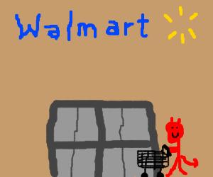 Satan goes to Walmart