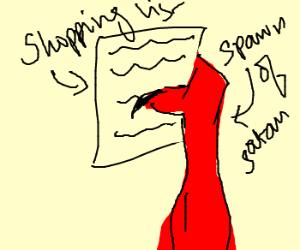 Demon's shopping list