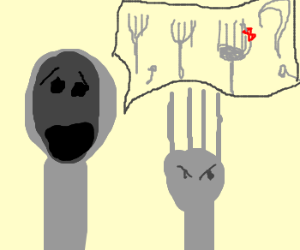 """Spoon asking if a fork """"forked his wife"""""""