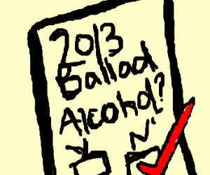 No alcohol in 2013... right??