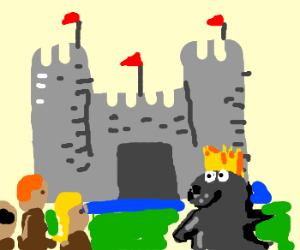 king seal shows peasants new castle