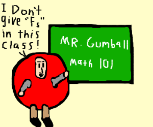 bad Gumball cosplayer doesn't give an F