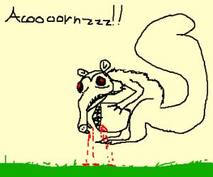 Zombie squirrel craves aaaaaaacorns